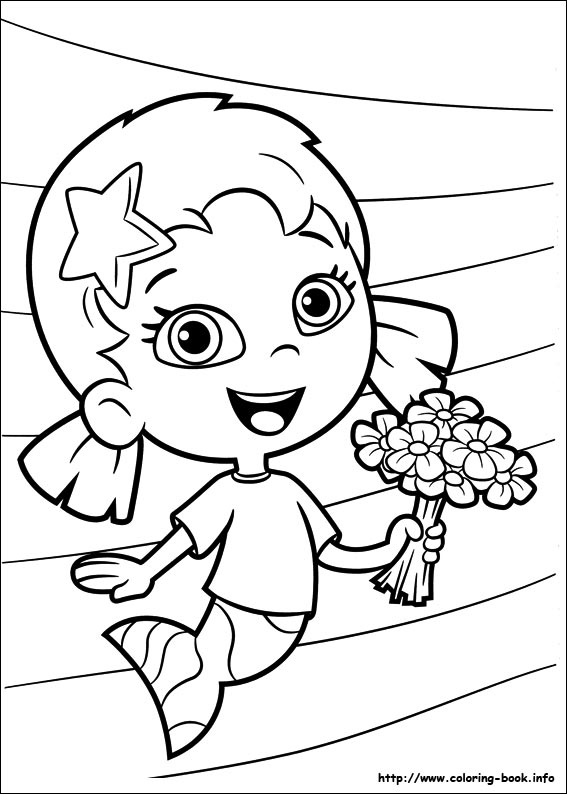 Bubble Guppies Coloring Page Deema and Molly - Get Coloring Pages | 794x567