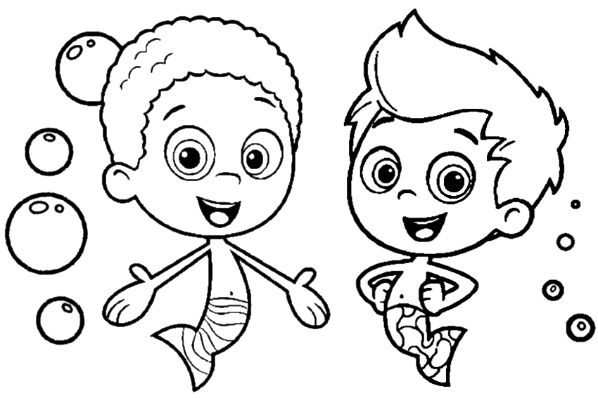 Bubble Guppies coloring page for kids