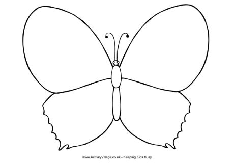 Beautiful Creation Of Nature Butterfly 20 Coloring Pages
