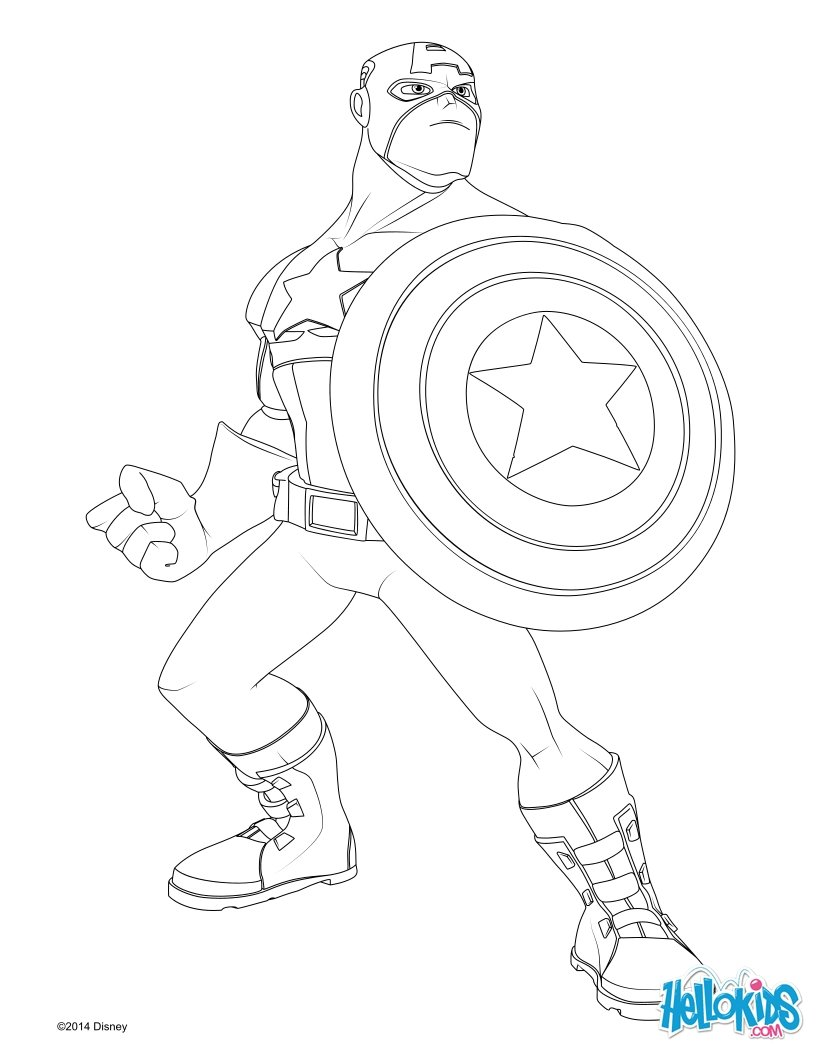 Captain America Coloring Pages Dylan Free Printables