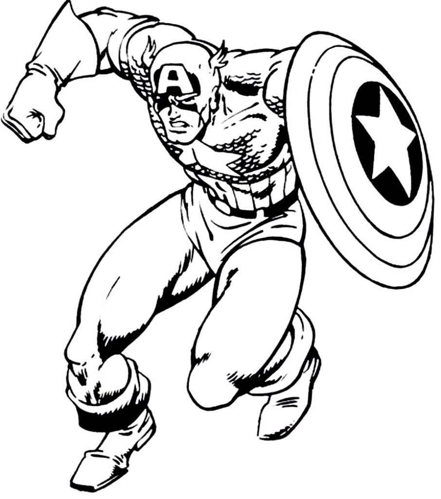 captainamerica coloring pages for kids Free Printables