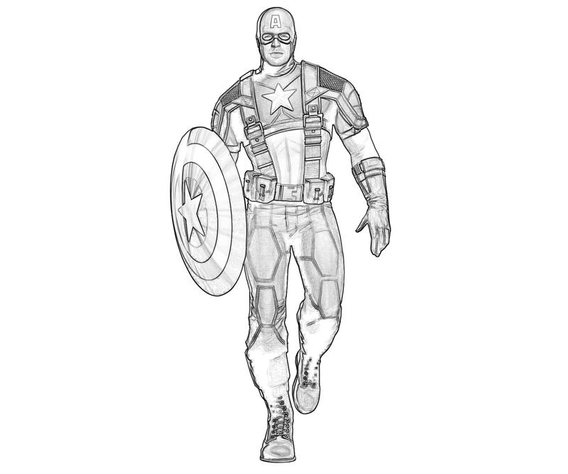Captain America printable pages for kids