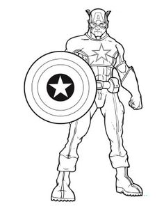 captain-america print and color – Free Printables