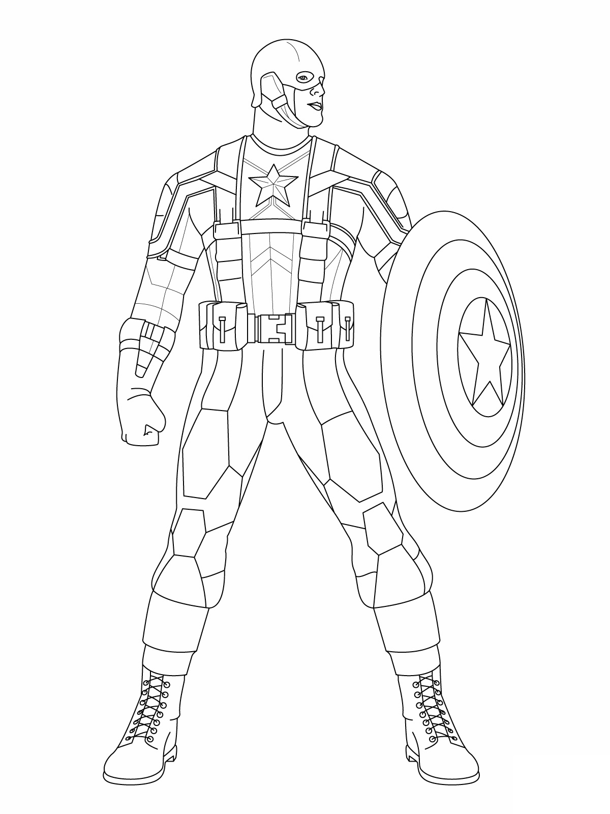 Captain America coloring page