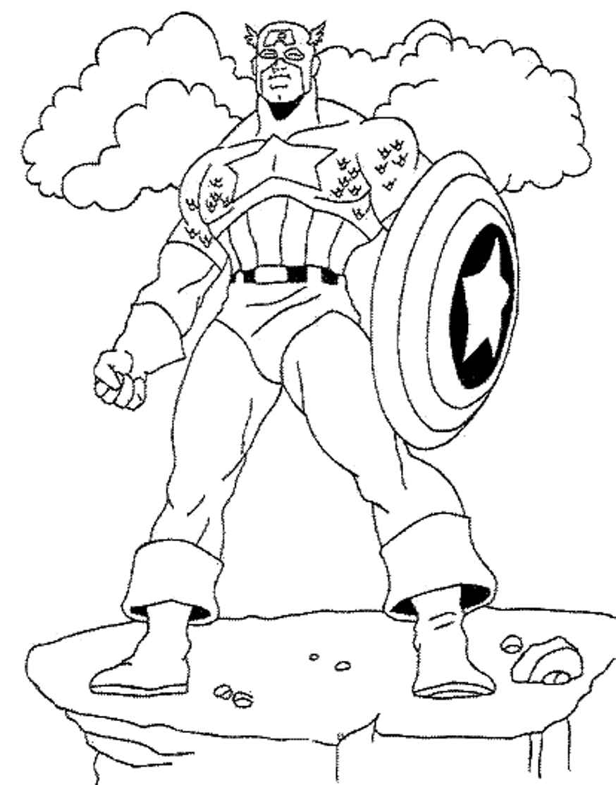 Tale Of An Ultimate Hero Captain America 20 Captain America Coloring Pages Free Printables