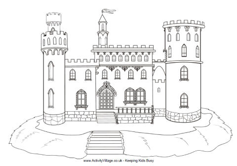 castle coloring pages by hailey