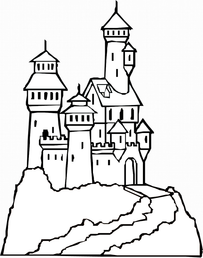 beautiful Castle coloring page