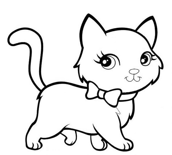 little kitty coloring page