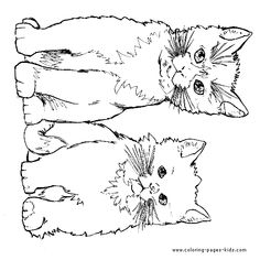 two little Cats coloring page