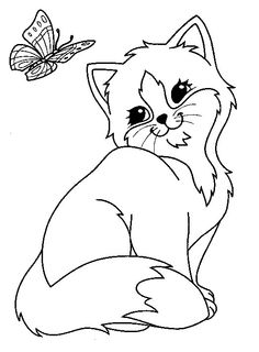 cute image of Cat coloring page