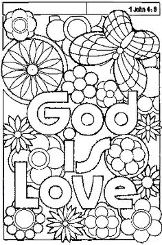 christian motto of god - Christian Coloring Pages Print