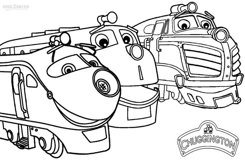 chuggington trains coloring page wilson with his friends - Chuggington Wilson Coloring Pages