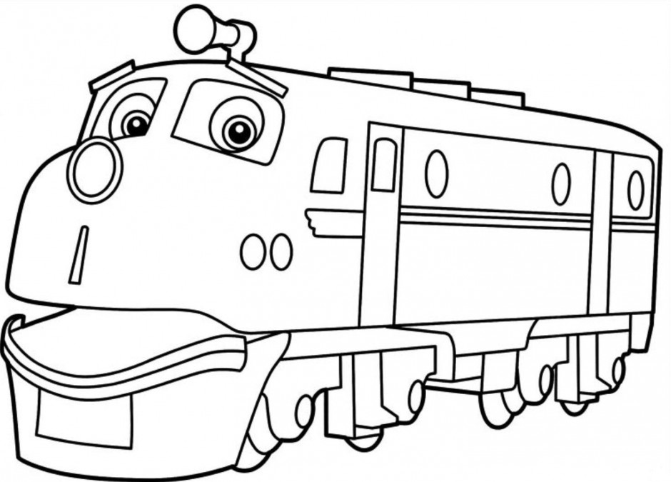 wilson coloring page - Chuggington Wilson Coloring Pages