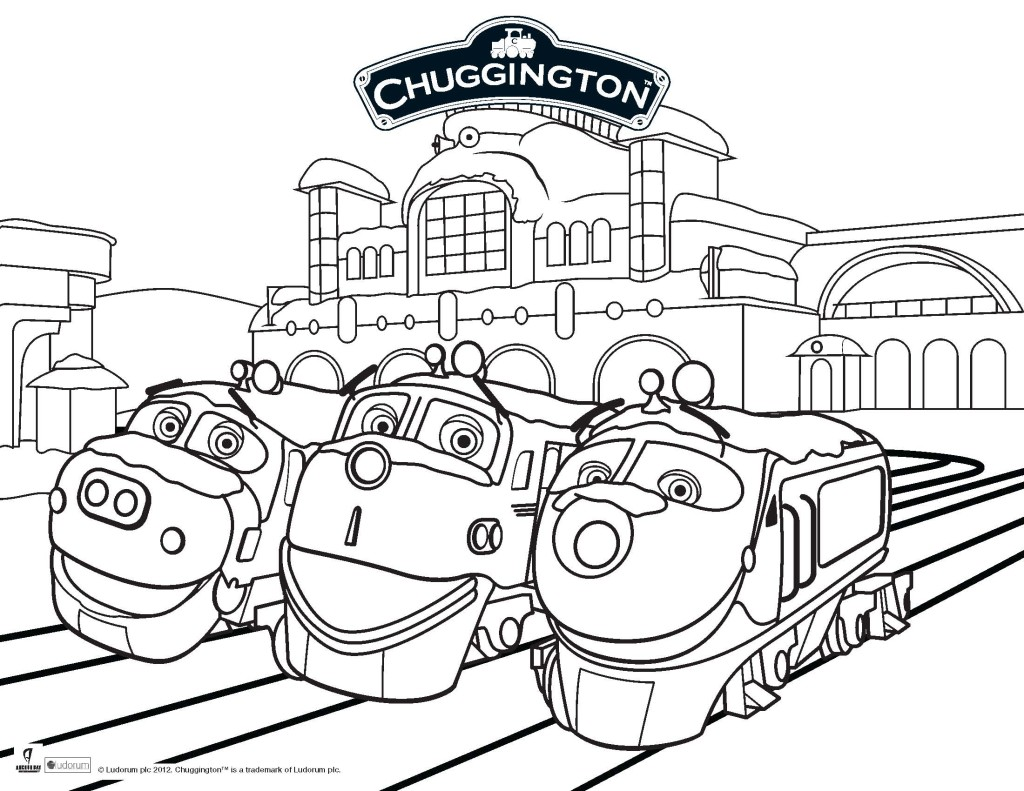 Printable Page Of Chuggington By Luke Free Printables Chuggington Colouring Pages
