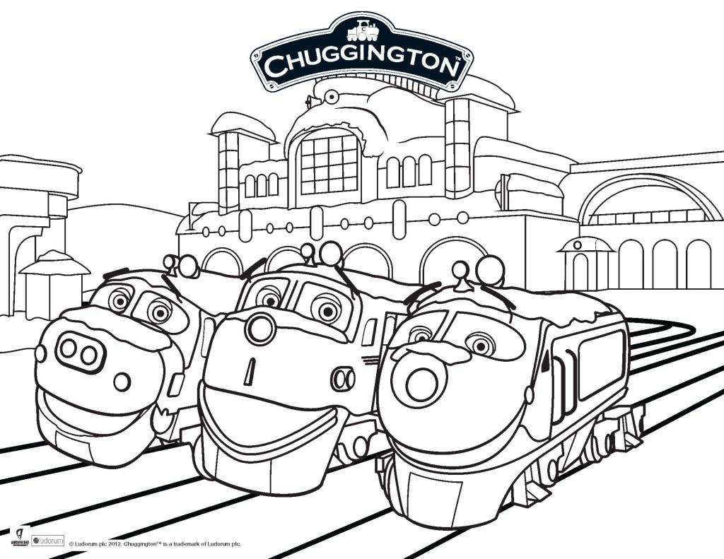 printable page of chuggington by