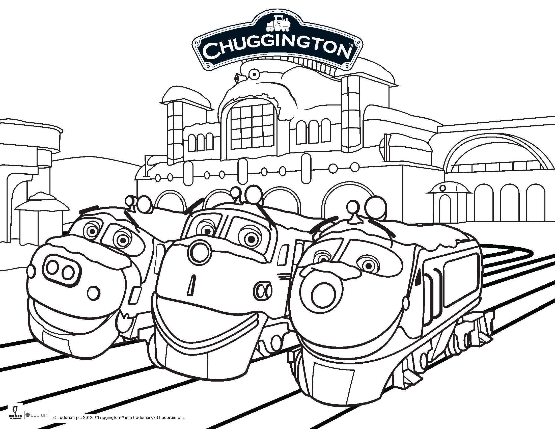 chuggington coloring book pages - photo#3
