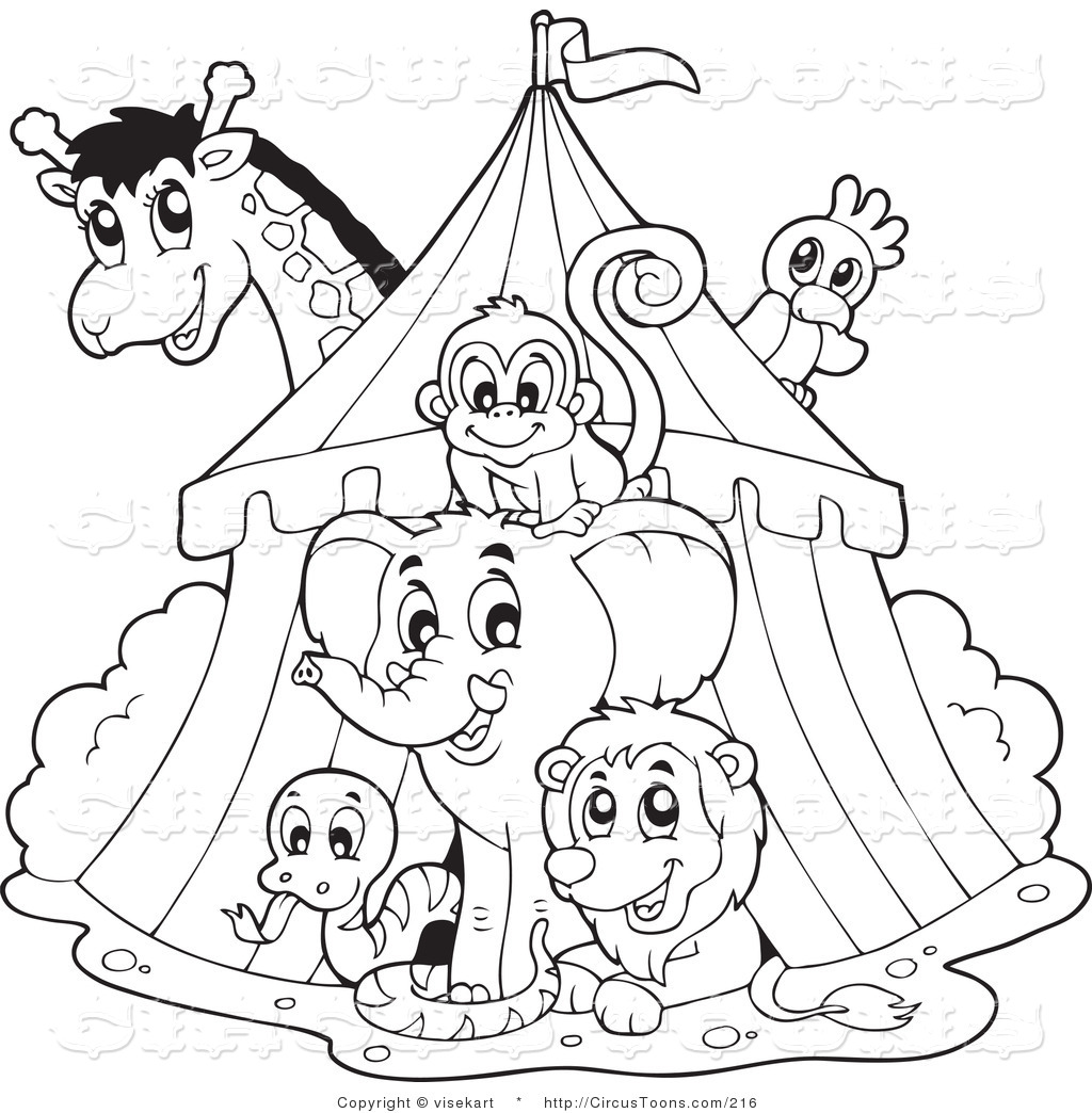 Circus And Carnival Coloring Pages 3 | Free Printable Coloring ... | 1044x1024