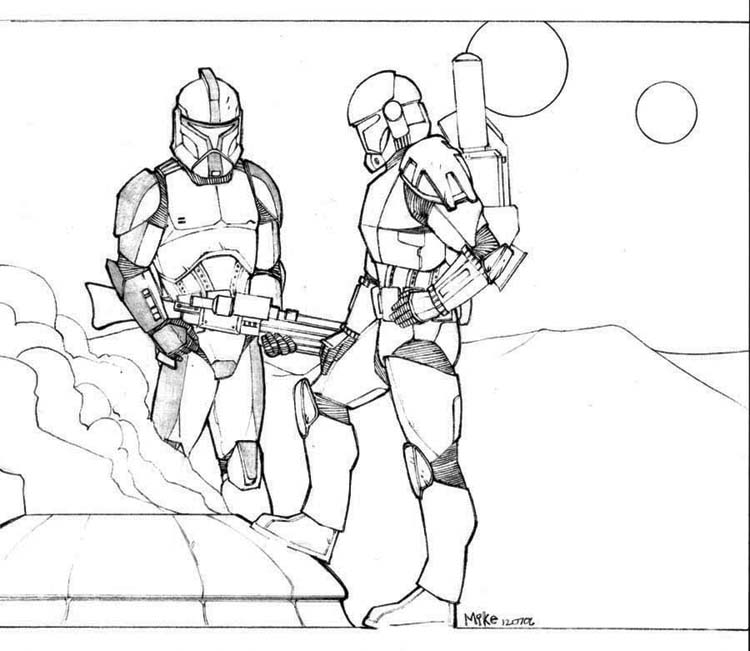 Clone Troopers coloring page
