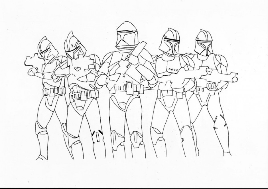 Clone Troopers printable page for action lovers