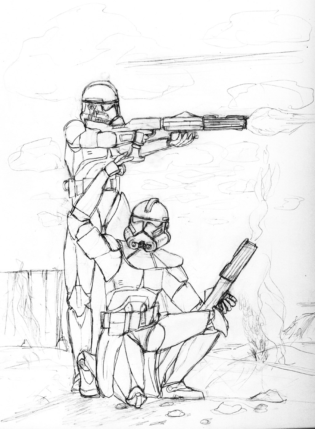 clone commander gree coloring pages - photo#5