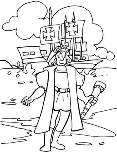 Columbus day coloring pics free printables for Christopher columbus coloring pages printable