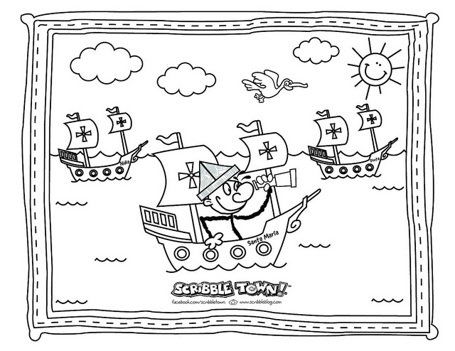 christopher columbus coloring pages printable - columbus day coloring pictures added abigail free printables