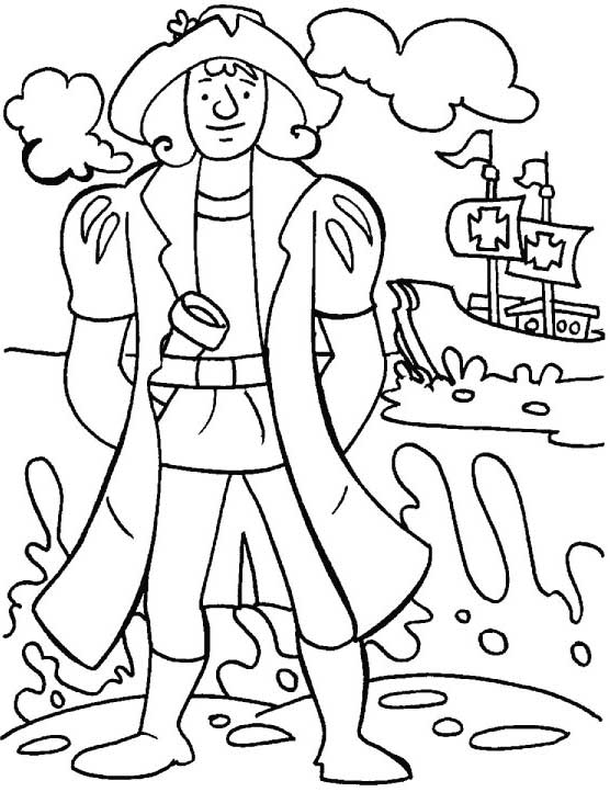 Discover day of the usa columbus day 20 columbus day for Columbus coloring page