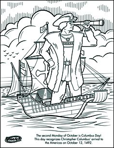 discover day of the usa columbus day 20 columbus day coloring ... - Christopher Columbus Coloring Page