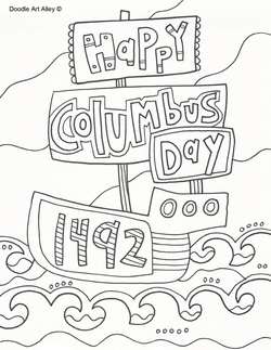 Columbus day pictures coloring free printables for Columbus coloring page
