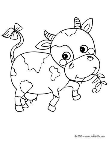 cute little calf coloring page