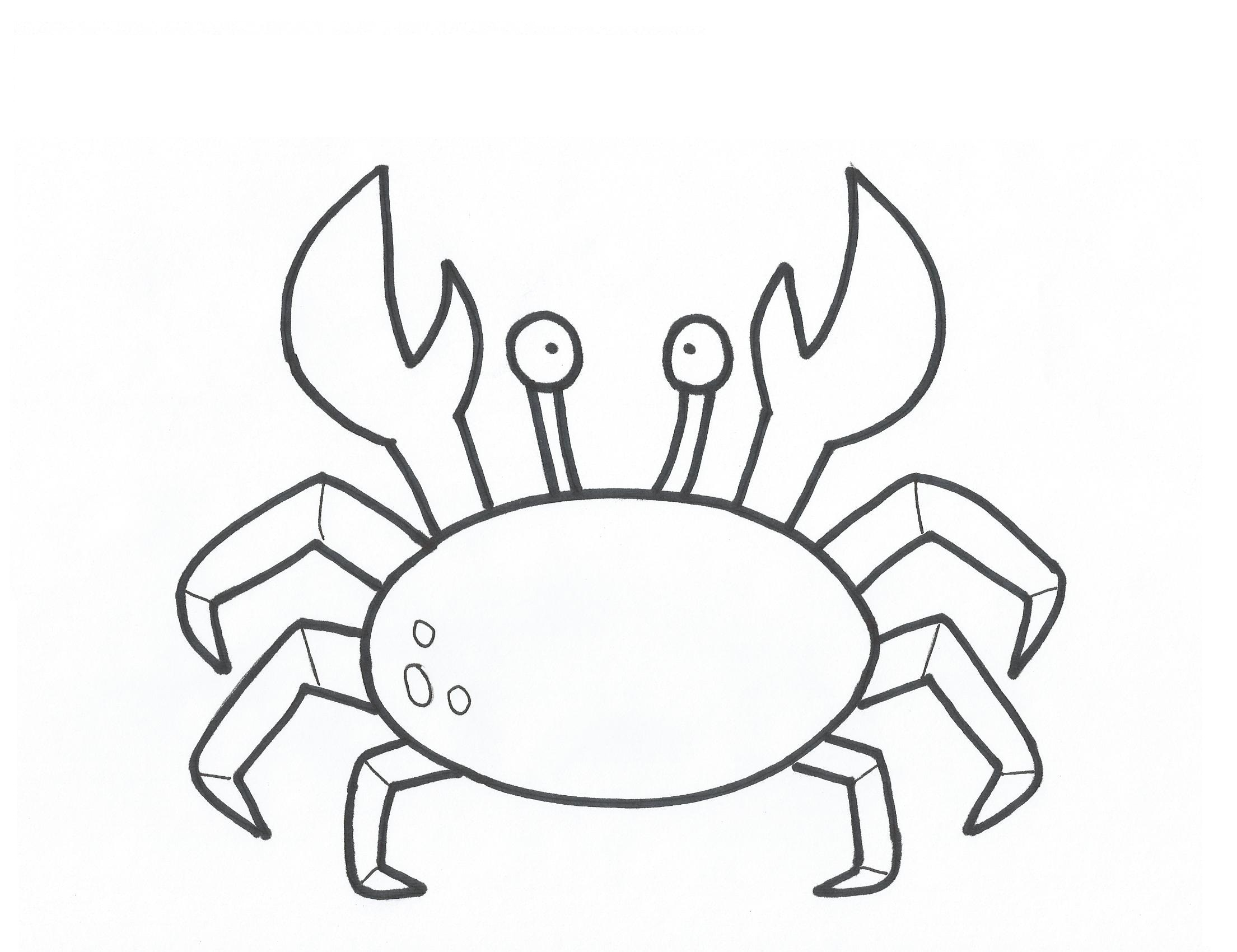 Crab picture coloring page