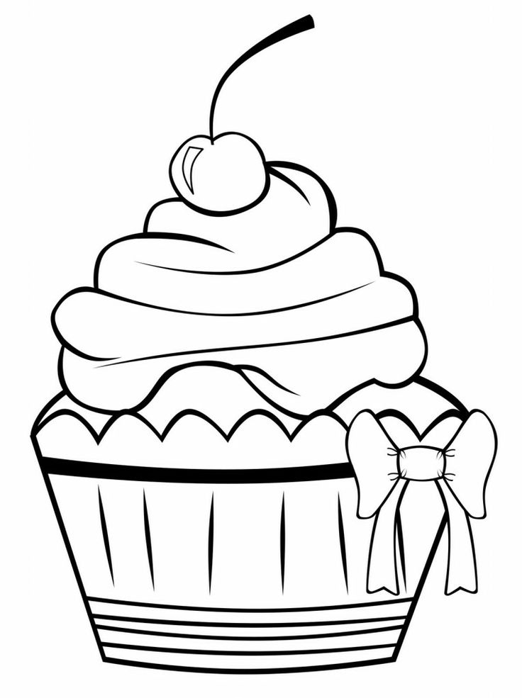 yummy cupcake 20 cupcake coloring pages | free printables - Coloring Pages Pretty Cupcakes