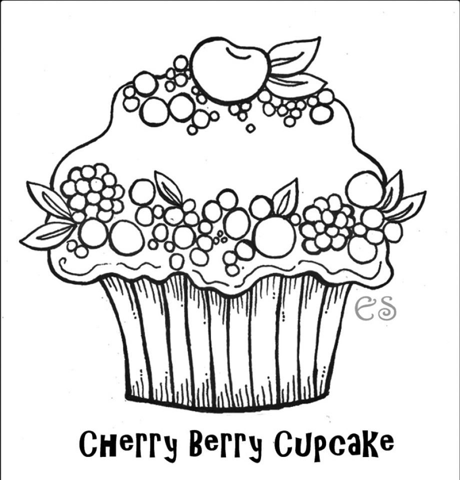 yummy cupcake 20 cupcake coloring pages free printables