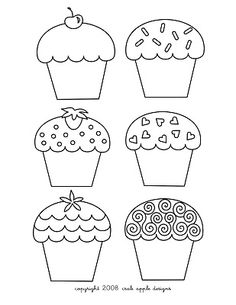 Cupcakes coloring page
