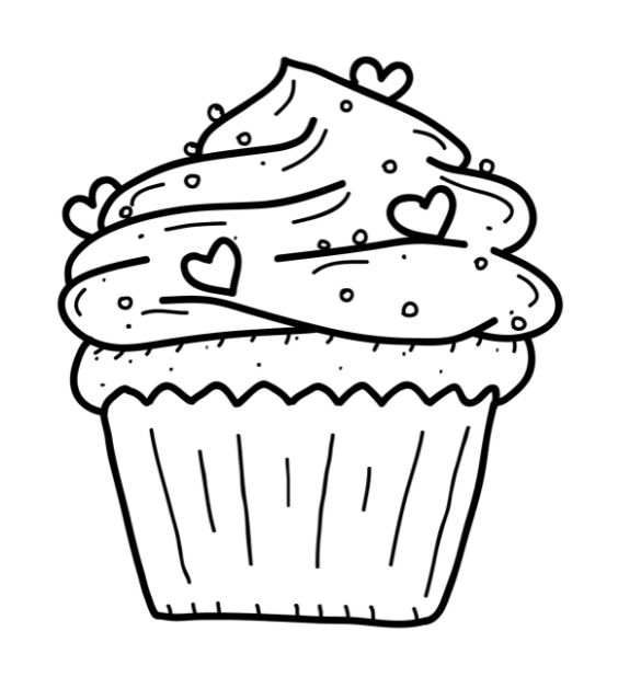 Cupcake with love design