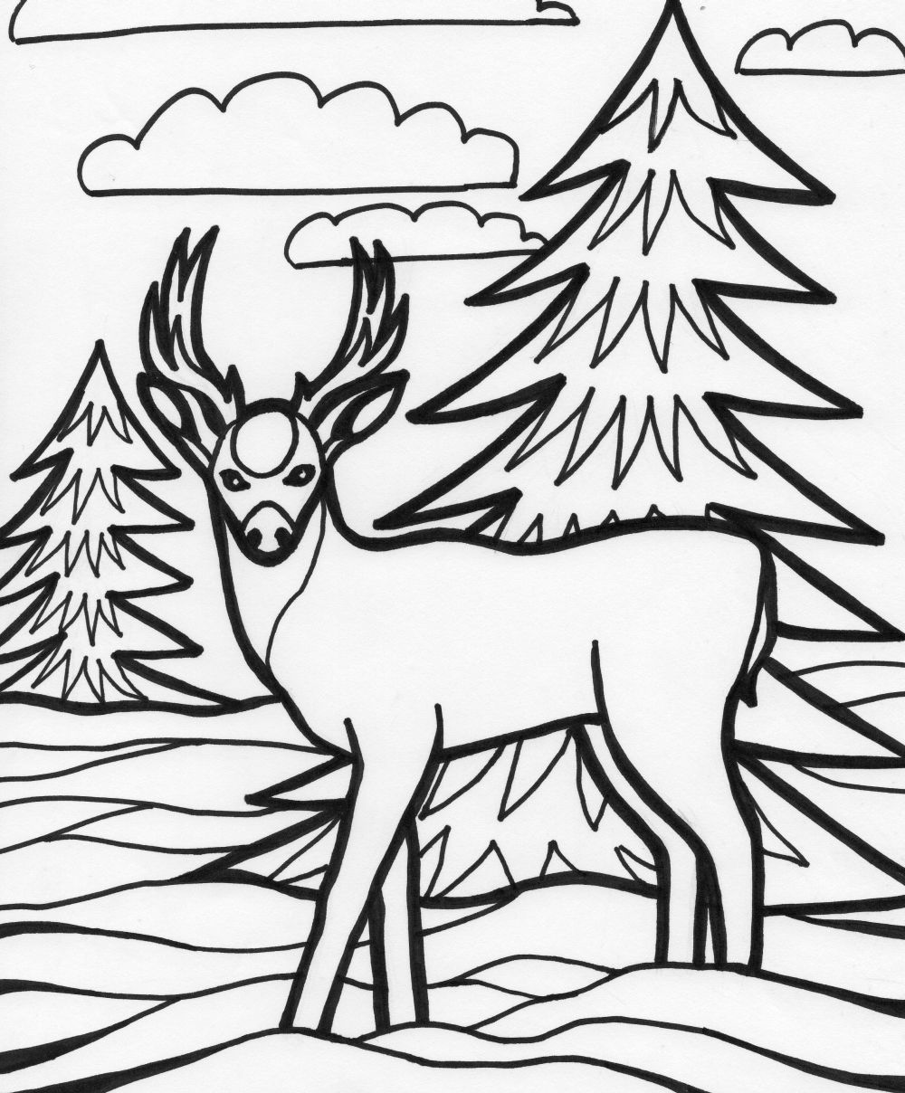 coloring pages of deer by mackenzie