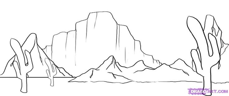 desert landscape coloring pages printable - photo#27
