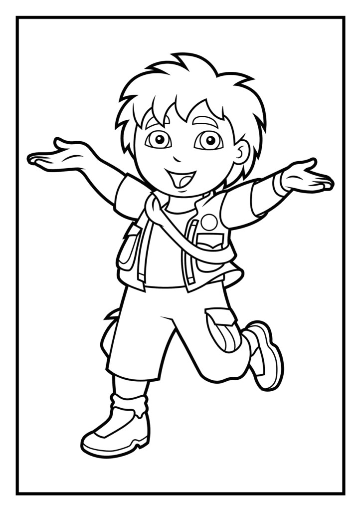 happy Diego coloring page