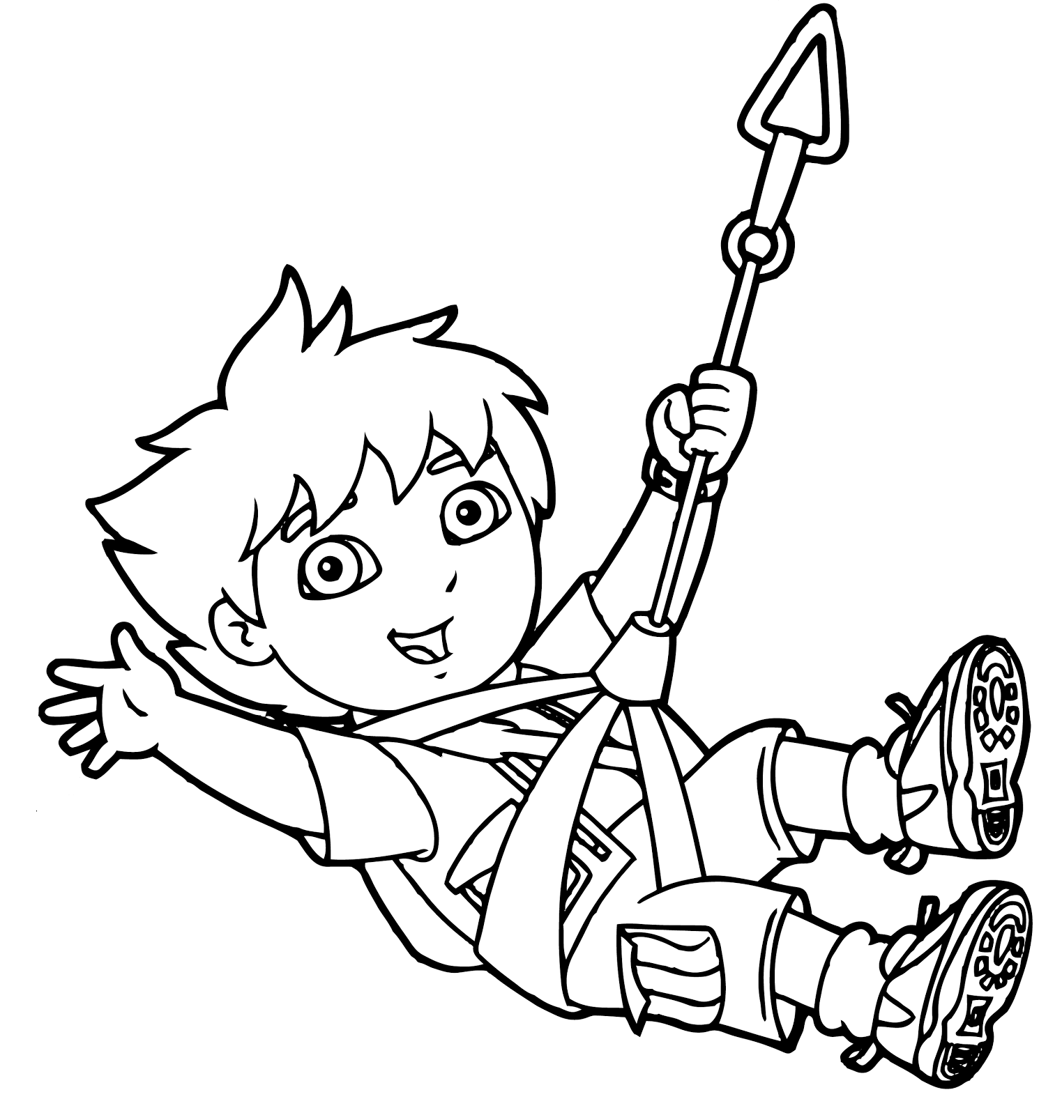 Diego having fun coloring page