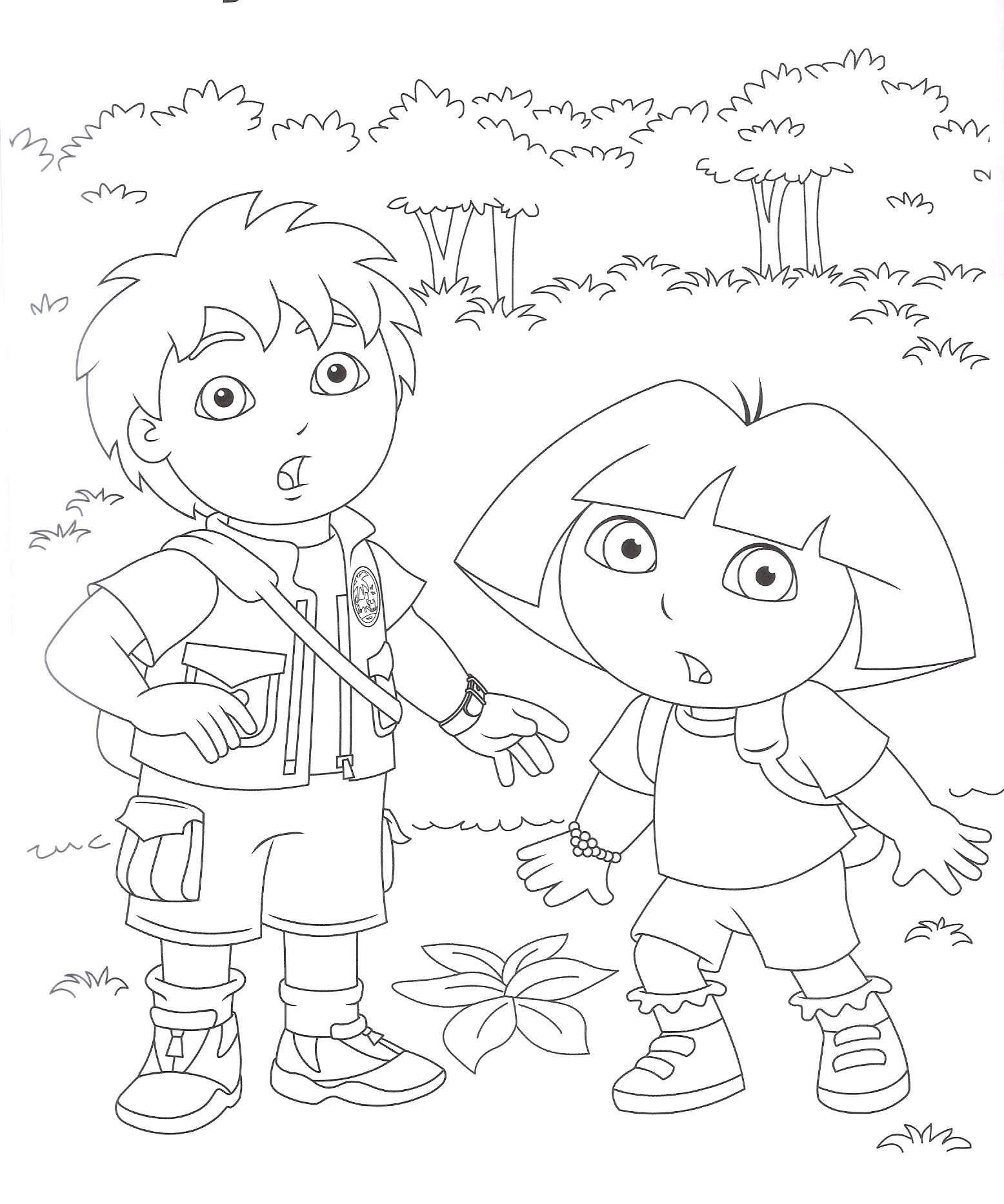 Diego and Dora seem surprised