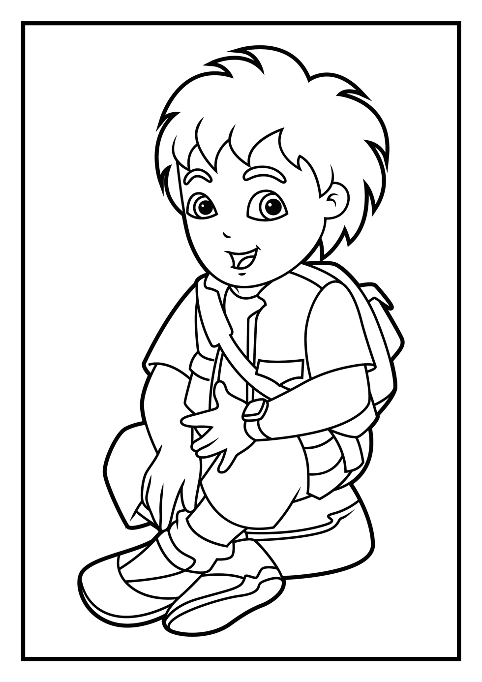dora diego coloring pages - photo#28