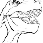 Dinosaur face coloring page