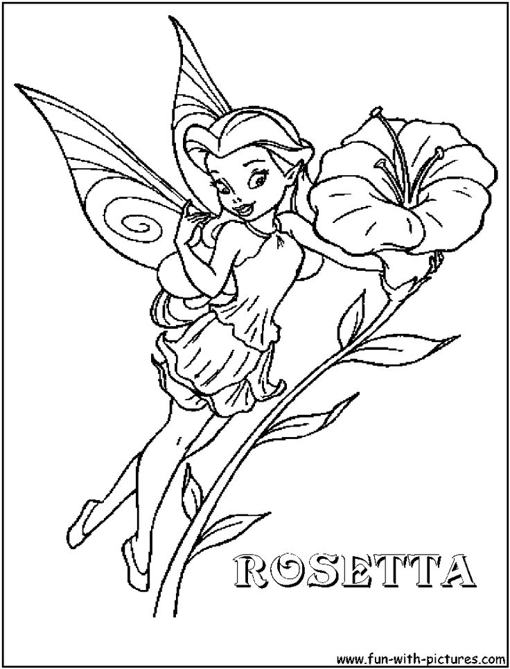 Rosetta fairy coloring page