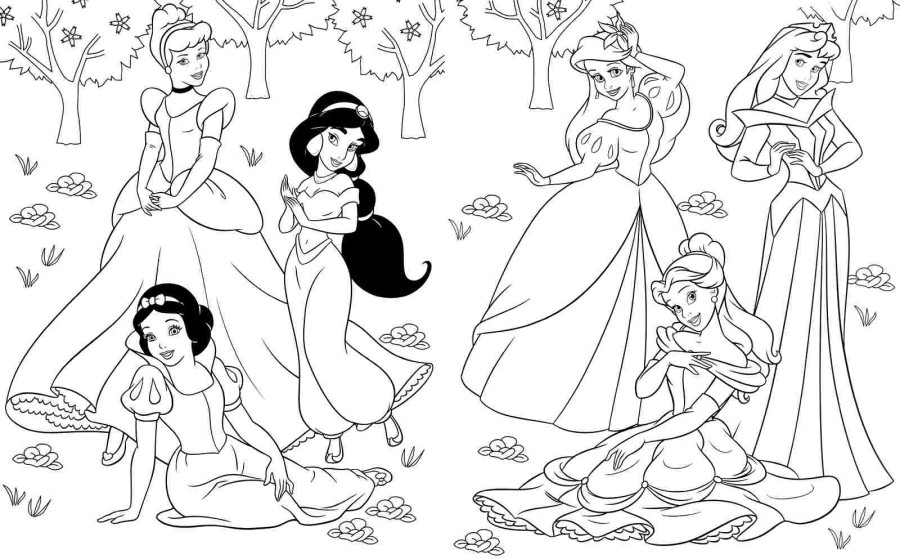 - Mesmerizing World Of Disney Princess 20 Disney Princess Coloring Pages Free  Printables