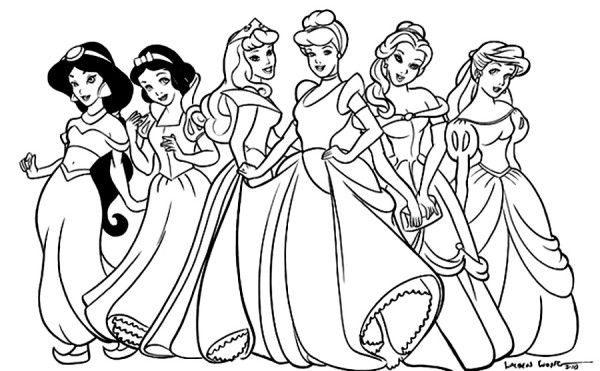 Mesmerizing world of Disney Princess 20 Disney Princess coloring ...
