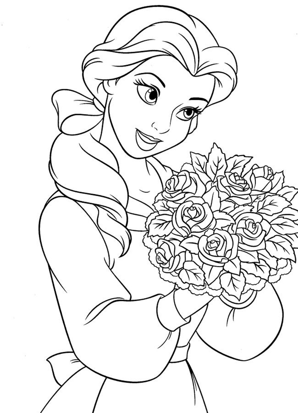 beautiful Belle coloring page