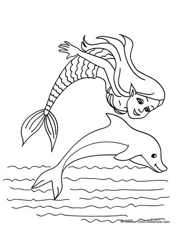 Dolphin with mermaid