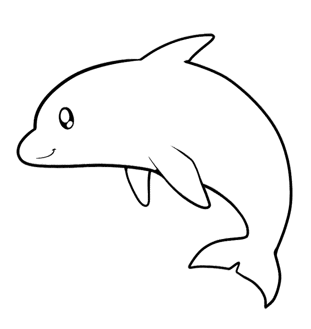 Friendly Underwater Creature 20 Dolphin Coloring Pages
