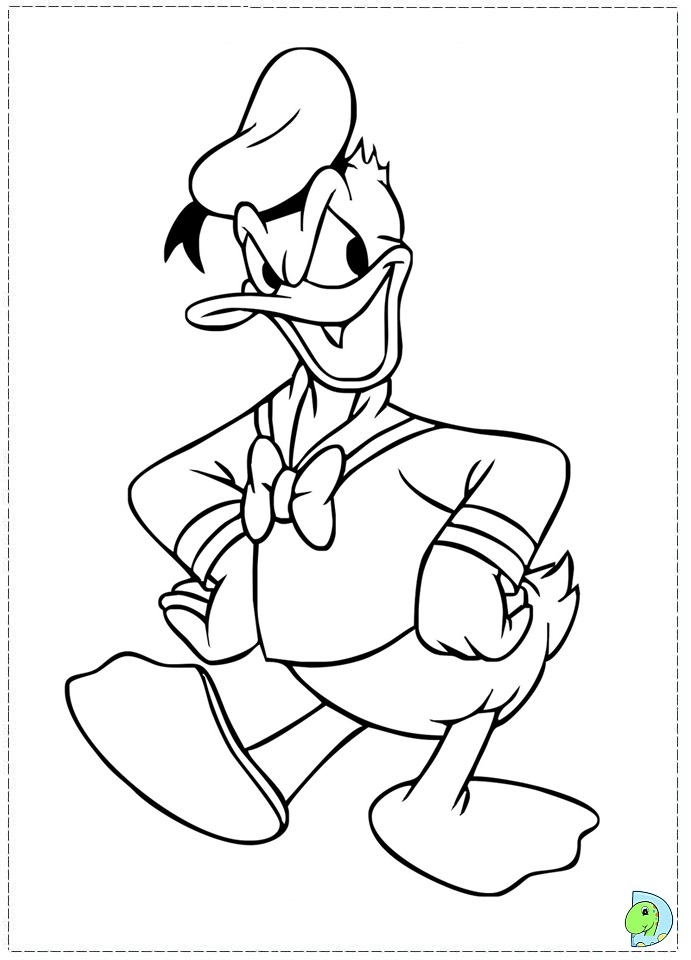 Donald Duck coloring page