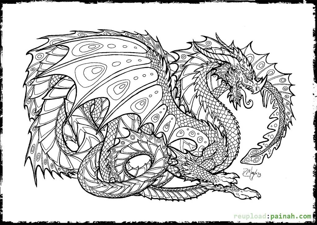 dragon coloring pictures added amelia free printables